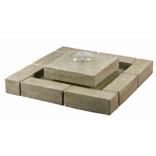 Wildon Home ® Belgian Block Resin Floor Fountain