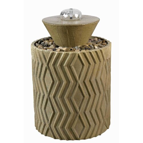 Wildon Home ® Excaret Resin Indoor / Outdoor Floor Fountain