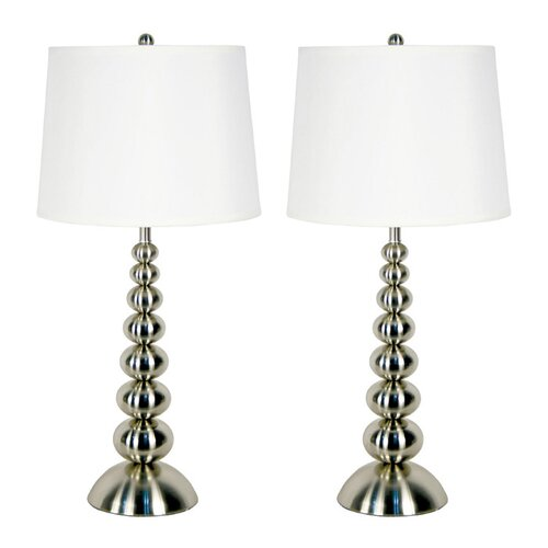 """Wildon Home ® Baubles 30"""" H Table Lamp with Empire Shade"""