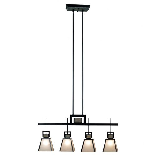 Wildon Home ® Clean Slate 4 Light Kitchen Island Pendant