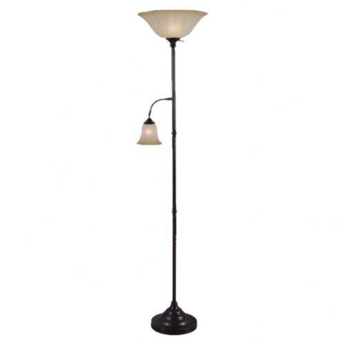 Wildon Home ® Jubilee 2 Light Torchiere Floor Lamp