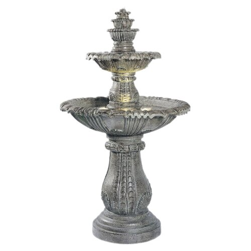 Wildon Home ® Cast Stone Venetian Floor Outdoor Fountain