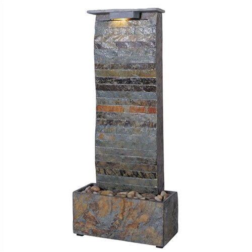 Wildon Home ® Curvature Slate Tabletop/Wall Fountain