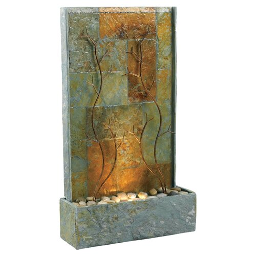 Wildon Home ® Copper Vines Slate Floor Fountain