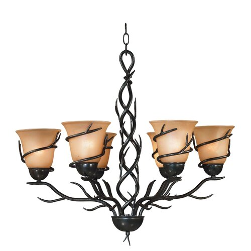 Wildon Home ® Peony 6 Light Chandelier