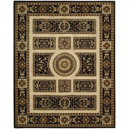 Versaille Palace Ivory/Black Rug