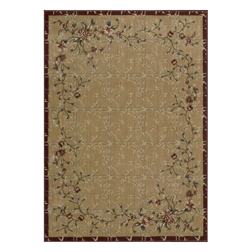 Cambridge Beige/Red Rug