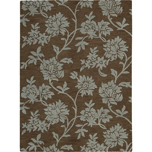 Skyland Chocolate Flower Rug