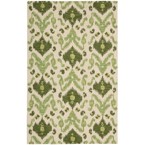 Nourison Siam Ivory/Green Rug