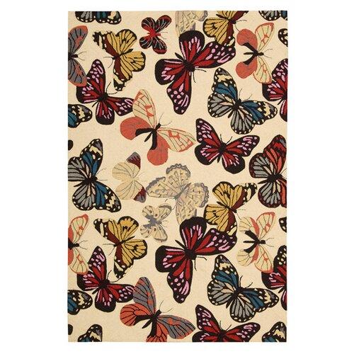 Nourison Fantasy Butterfly Rug