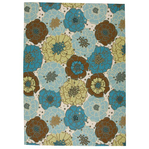 Nourison Home and Garden Light Blue Outdoor Rug
