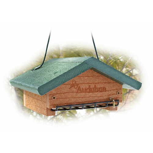Woodlink Audubon Going Upside Down Suet Decorative Bird Feeder
