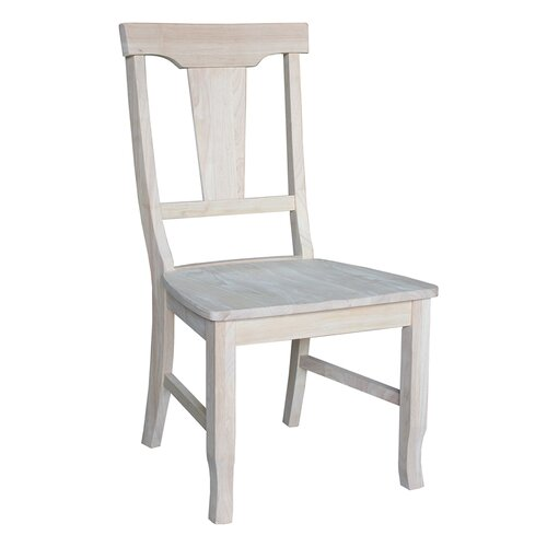 International Concepts Panel Back Side Chair (Set of 2)