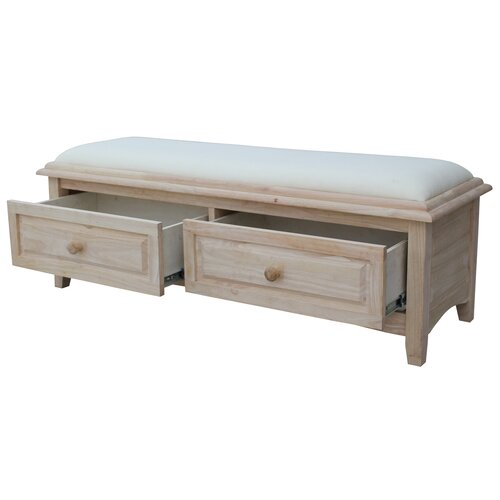 International Concepts Wood Storage Entryway Bench