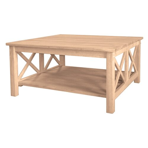 International Concepts Unfinished Wood Hampton Coffee Table