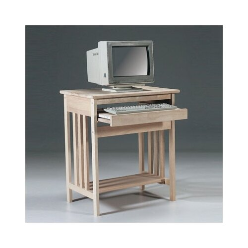 International Concepts Unfinished Wood Mission Computer Stand