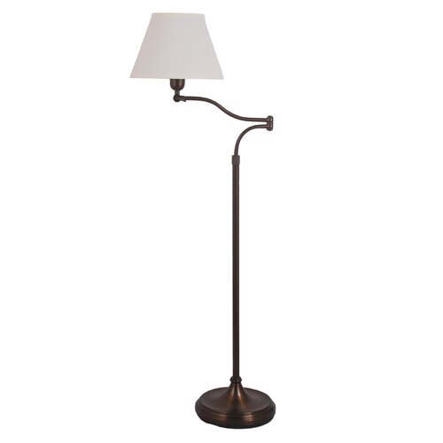 adjustable metal swing arm floor lamp wayfair. Black Bedroom Furniture Sets. Home Design Ideas