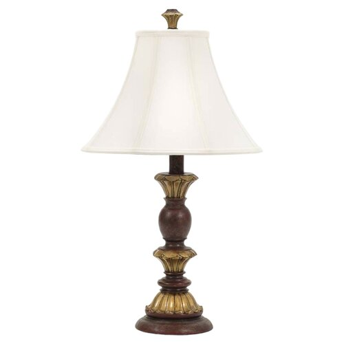 "Fangio Lighting 28"" H Table Lamp with Bell Shaped Shade"