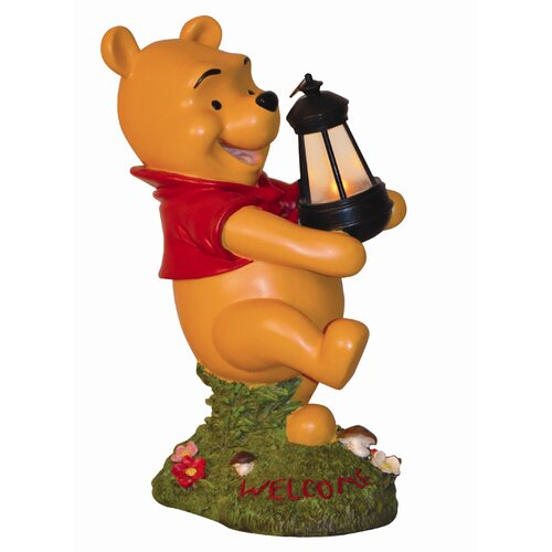 Disney Winnie-The-Pooh Holding Lighted Lantern Statue