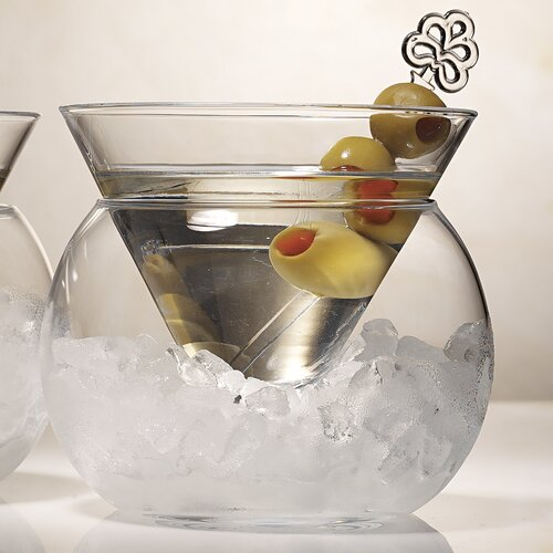 Artland Rockwell Large Stemless Martini Glass