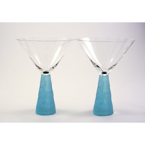 Artland Prescott Martini Glass in Aqua
