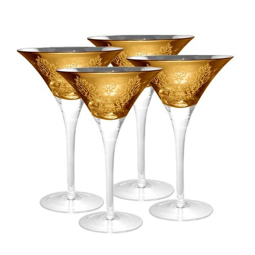 Brocade Martini Glass (Set of 4)