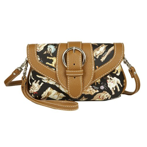 Cats and Dogs Cross-Body Wristlet