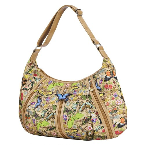 Botanical Triple Zip Hobo Bag