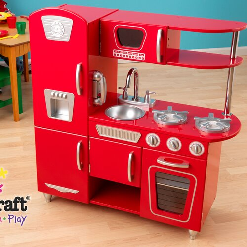 Vintage Kitchen By Kidkraft: KidKraft Red Vintage Kitchen & Reviews