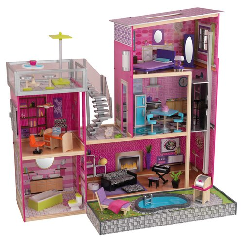Kidkraft Uptown Dollhouse With Furniture Reviews Wayfair
