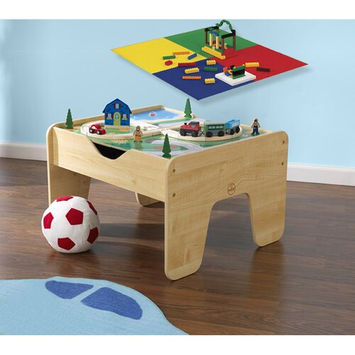 KidKraft 2-in-1 Lego & Train Activity Table