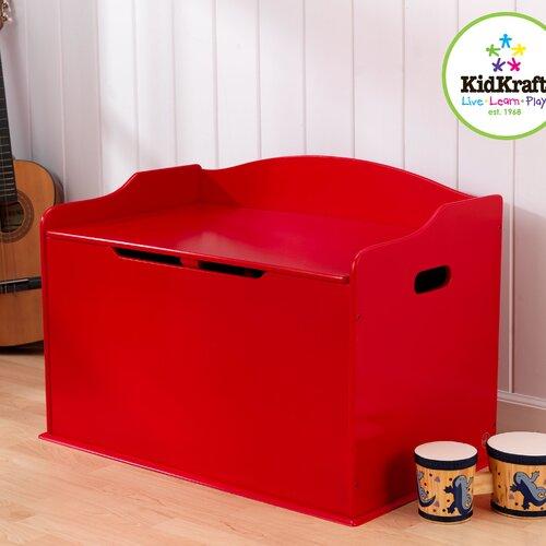 KidKraft Austin Toy Box in Red