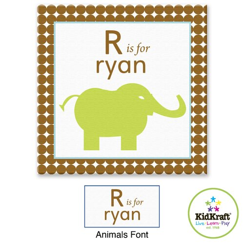 KidKraft Personalized Boy Animals Canvas Art