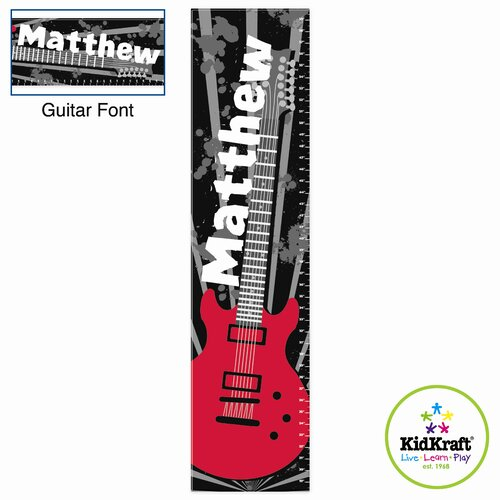 KidKraft Personalized Guitar Growth Chart