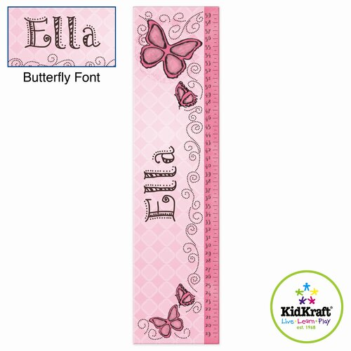 Personalized Butterfly Growth Chart