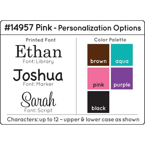 Personalized Austin Toy Box in Pink