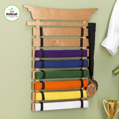 KidKraft Martial Arts Belt Holder Wall Plaque