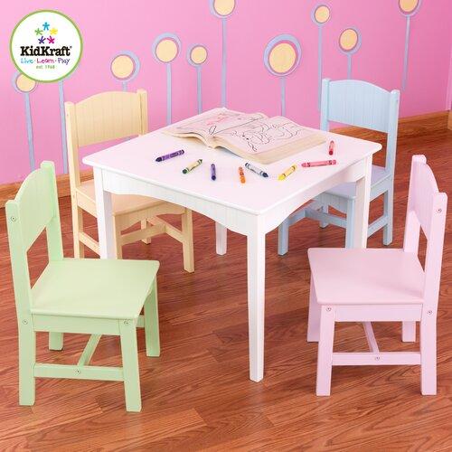 KidKraft Nantucket Kids' 5 Piece Table and Chair Set