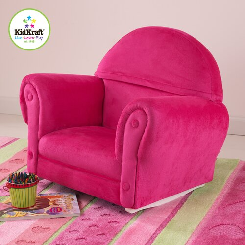 Personalized Bubblegum Velour Rocker with Slip Cover