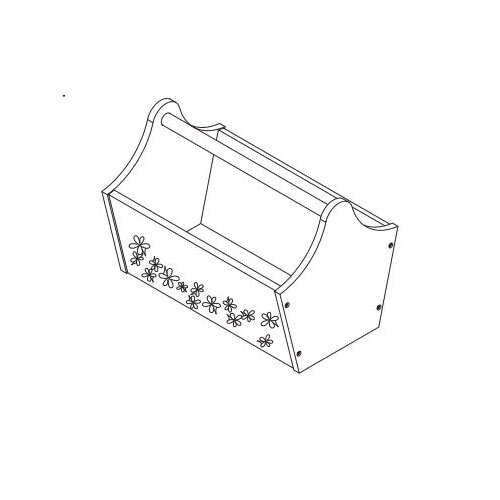 KidKraft Toy Caddy with Flowers