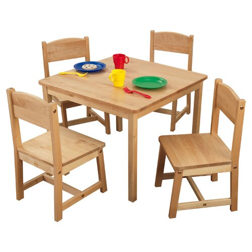 KidKraft Farmhouse Kids' 5 Piece Table & Chair Set