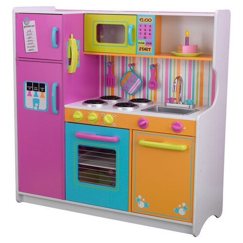Kidkraft Deluxe Big Bright Kitchen Play Set Reviews Wayfair Supply