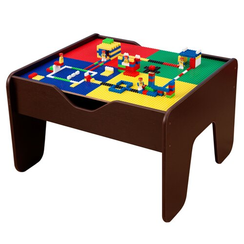 KidKraft 2-in-1 Lego and Train Activity Table in Espresso