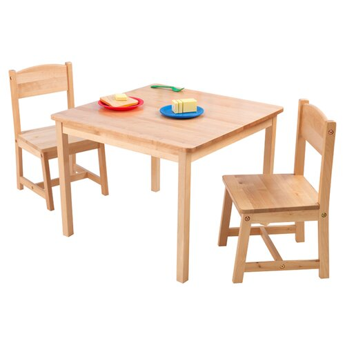 KidKraft Aspen Kids' 3 Piece Table and Chair Set