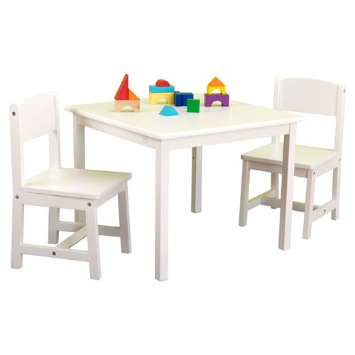 KidKraft Aspen Kids' 3 Piece Table & Chair Set