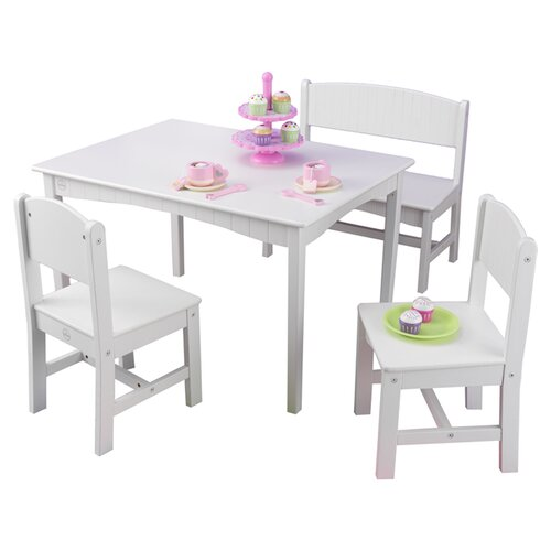 KidKraft Nantucket Kids 4 Piece Table and Chair Set