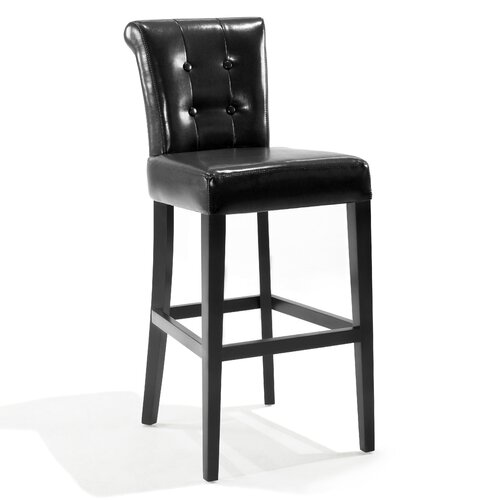 "Armen Living Urbanity Sangria 26"" Bar Stool with Cushion"