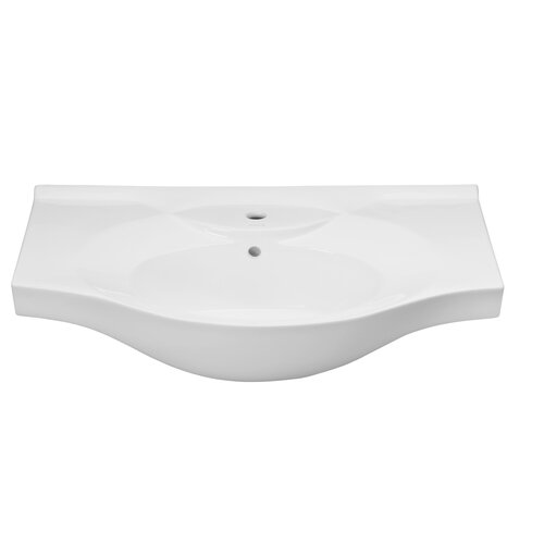 Bed furniture traditional - Ronbow Euro Style Overhang Ceramic Bathroom Sink With Overflow And