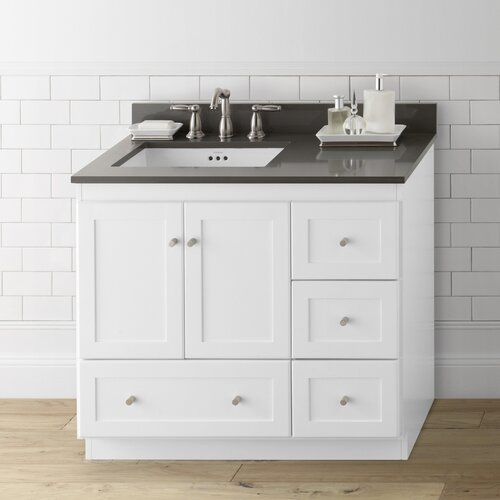 modular 36 shaker bathroom vanity base wayfair