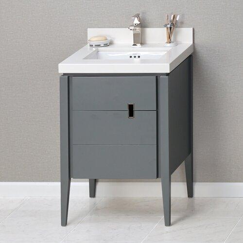zoe 24 bathroom vanity base in slate gray wayfair